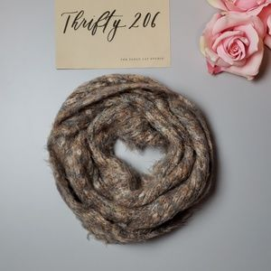 Accessories - Super Soft Fuzzy Earthtone Braided Long Scarf